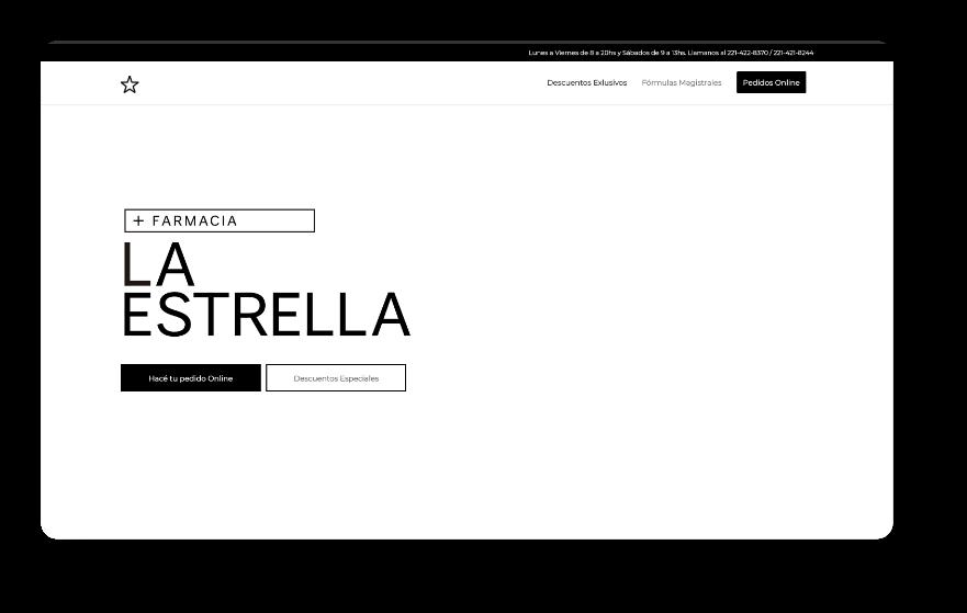 Farmacia La Estrella Website